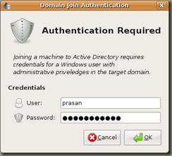 Screenshot-Domain Join Authentication